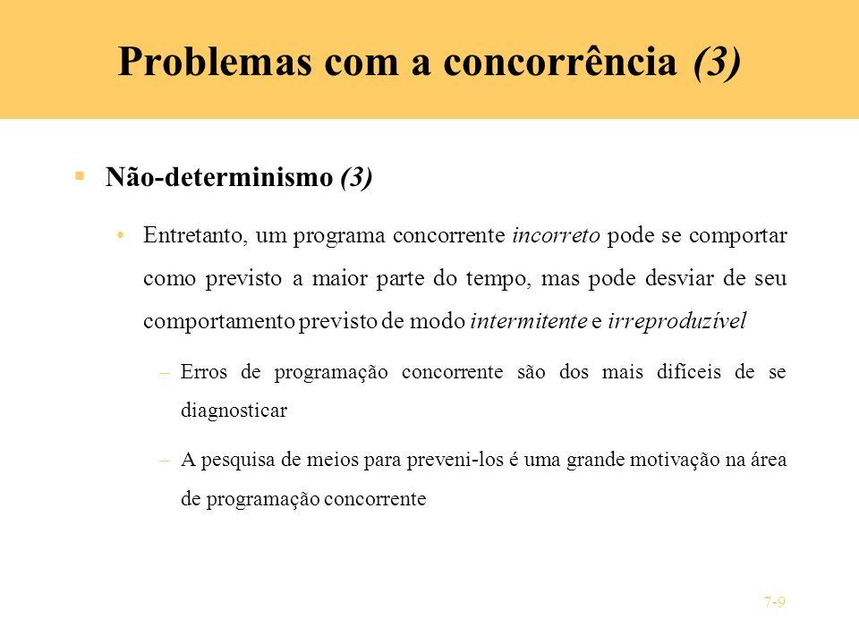 Problemas com a concorrência (3)