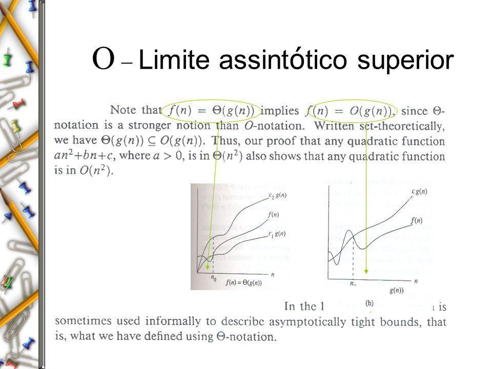 O - Limite assintótico superior