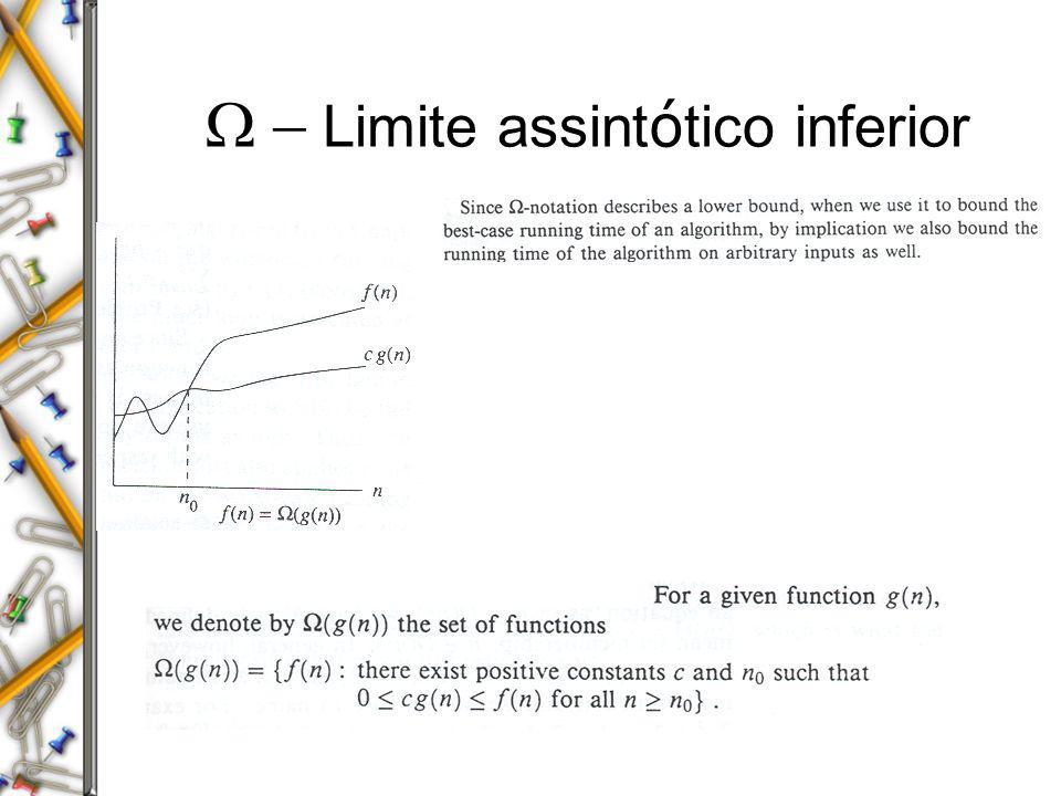 W - Limite assintótico inferior