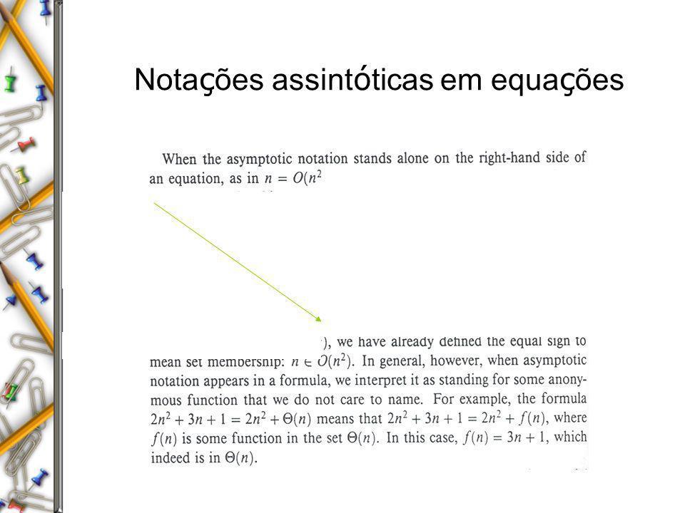 Notações assintóticas em equações