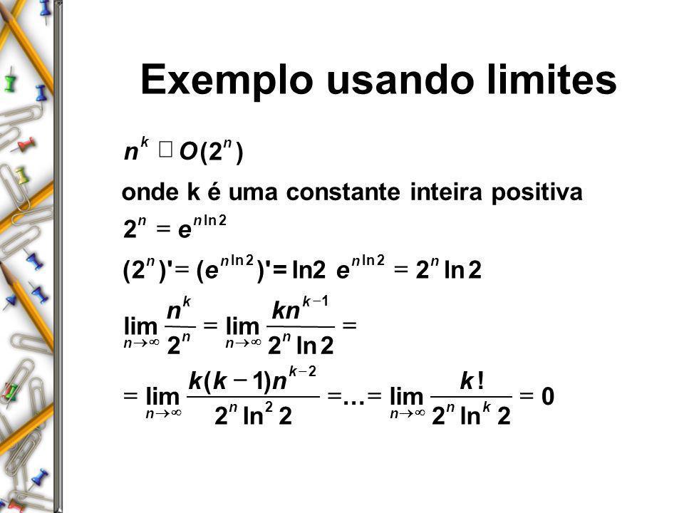 Exemplo usando limites
