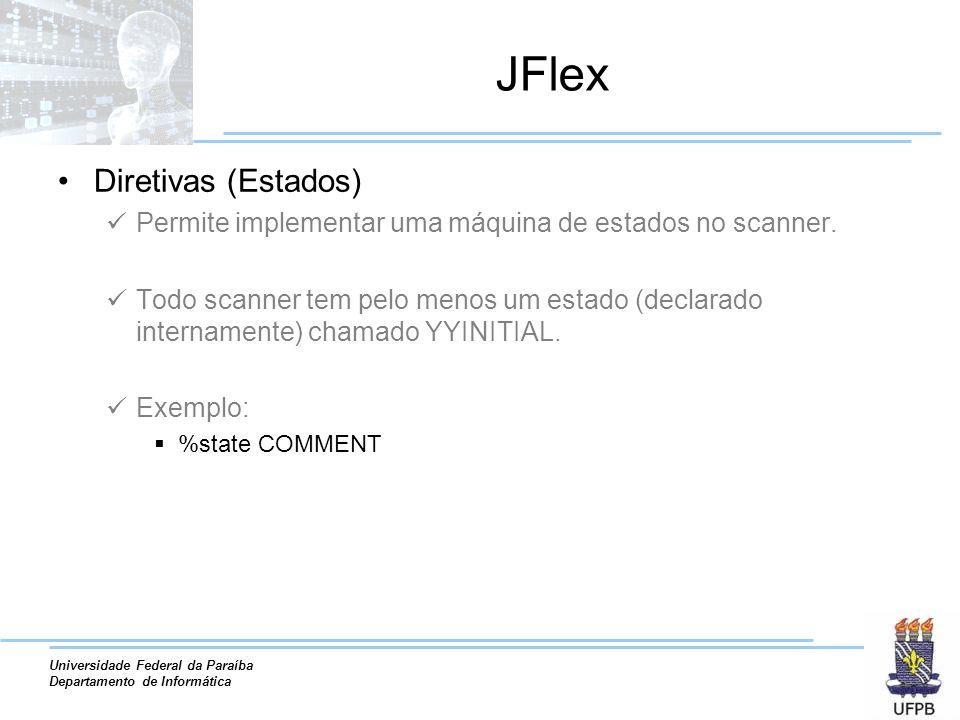 JFlex Diretivas (Estados)
