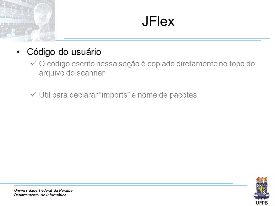 JFlex Código do usuário