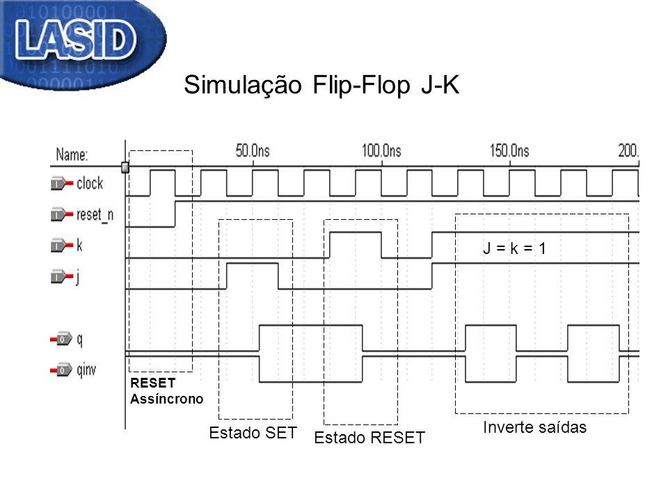 Simulação Flip-Flop J-K