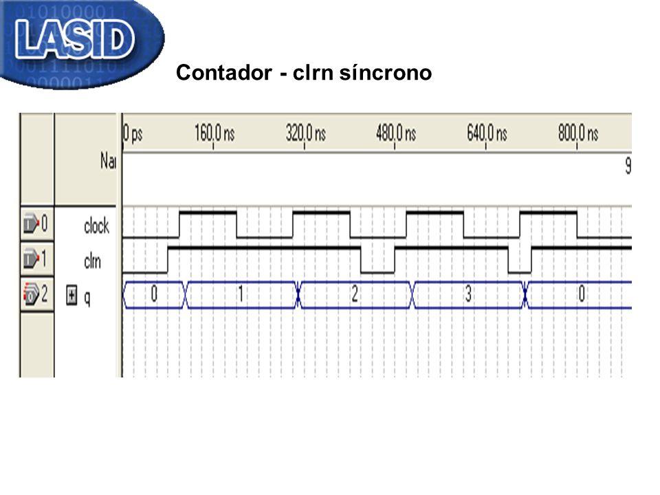 Contador - clrn síncrono