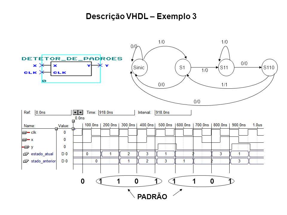 Descrição VHDL – Exemplo 3