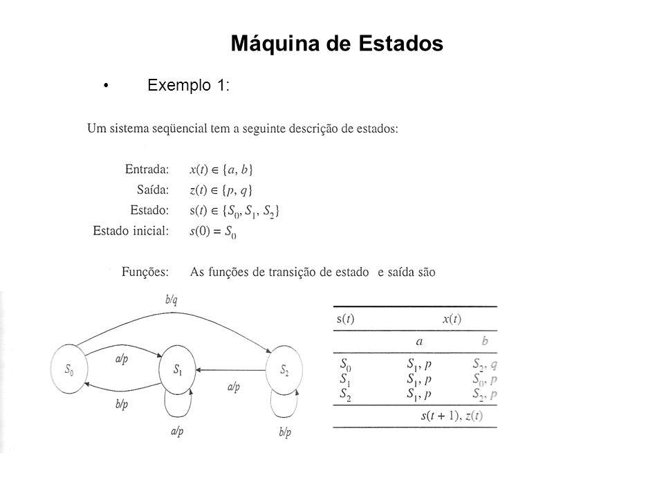 Máquina de Estados Exemplo 1: