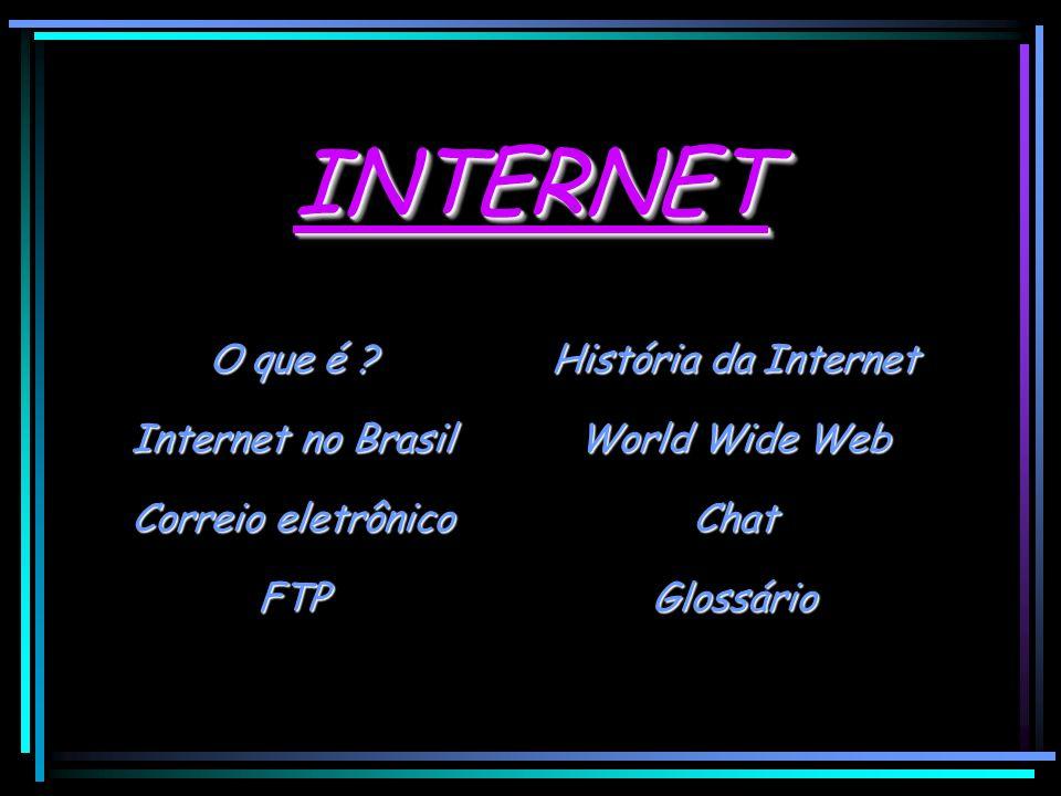 INTERNET O que é História da Internet Internet no Brasil