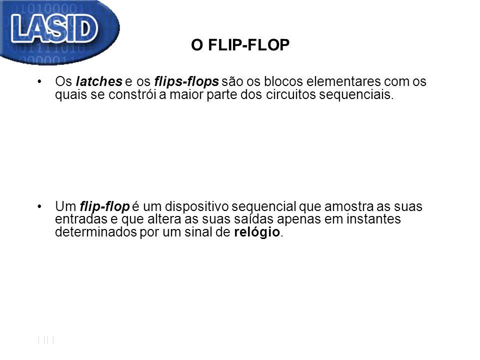 O FLIP-FLOP Os latches e os flips-flops são os blocos elementares com os quais se constrói a maior parte dos circuitos sequenciais.