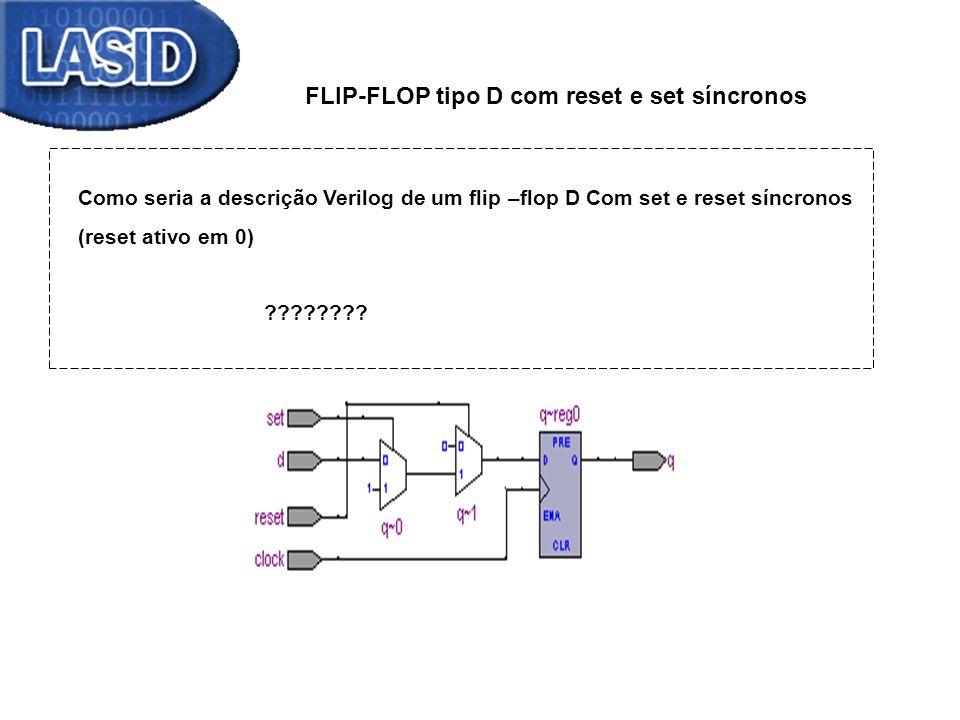 FLIP-FLOP tipo D com reset e set síncronos