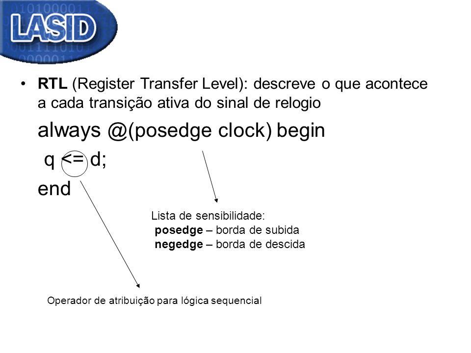 always @(posedge clock) begin