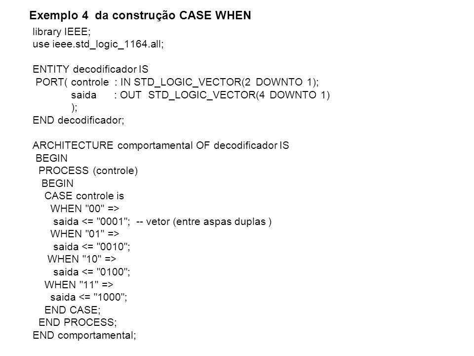 Exemplo 4 da construção CASE WHEN