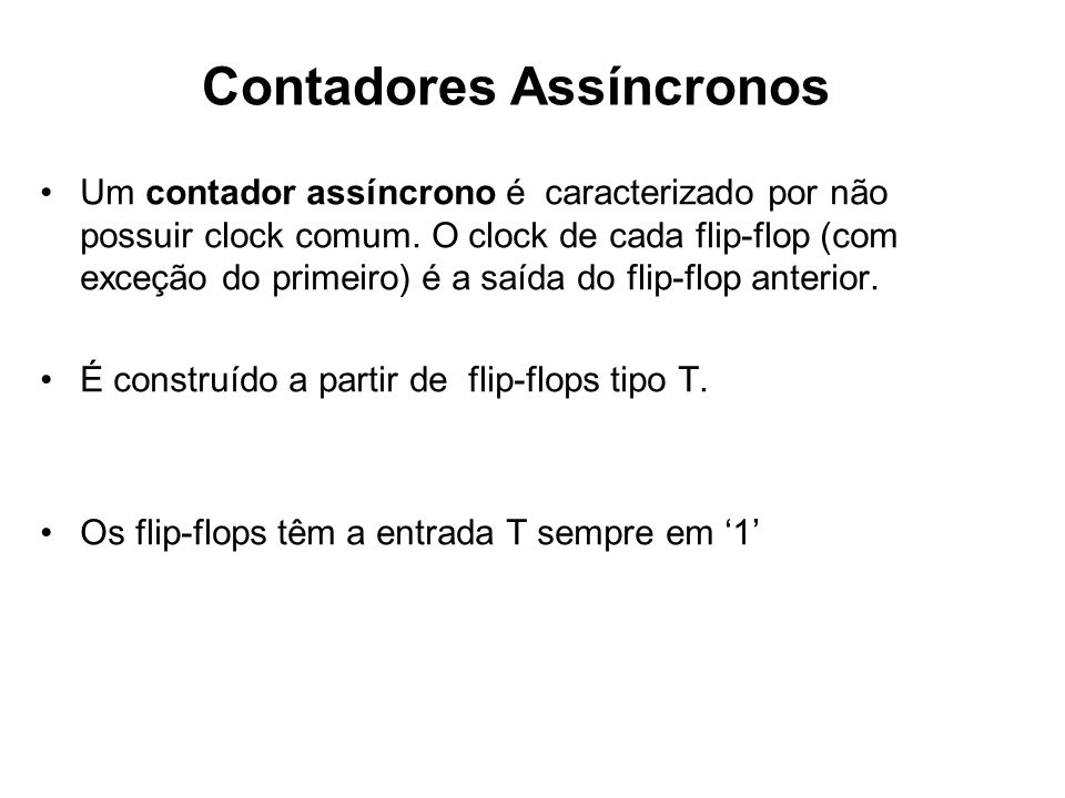 Contadores Assíncronos