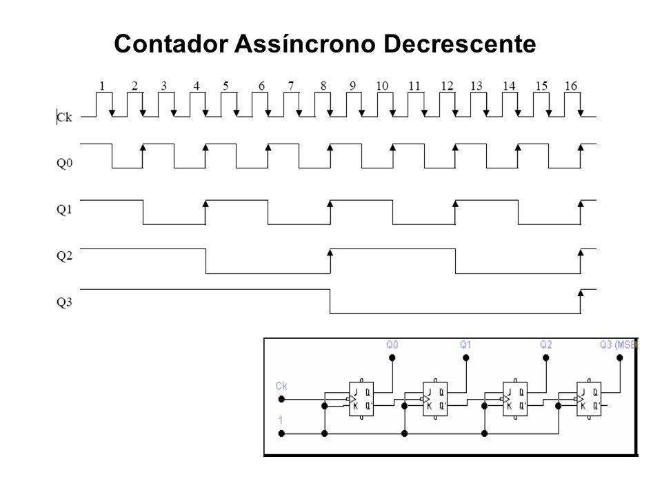 Contador Assíncrono Decrescente