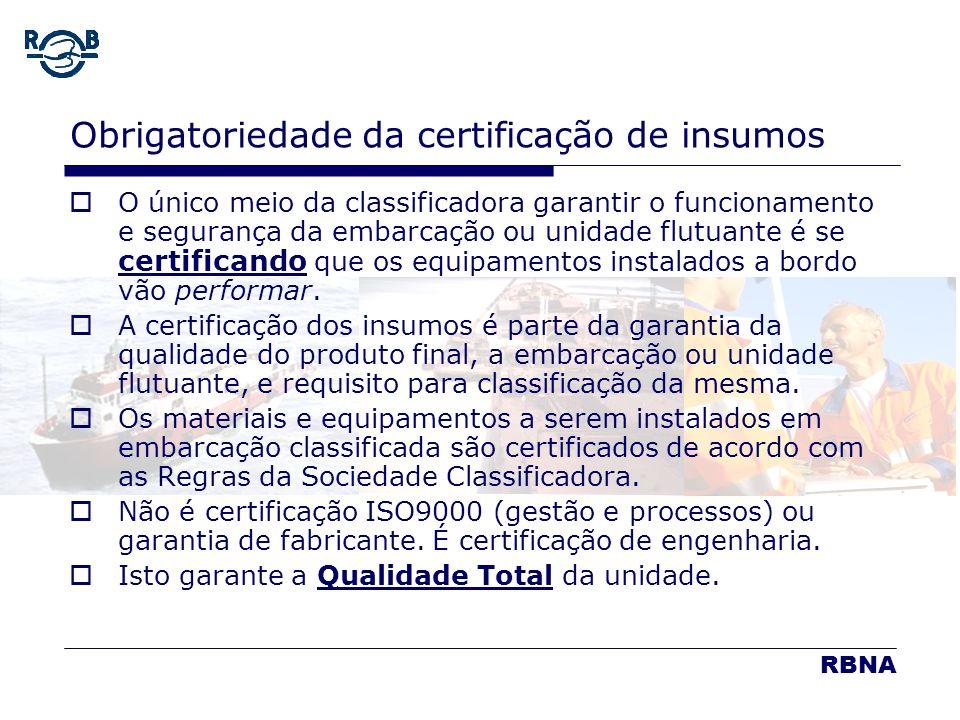 Obrigatoriedade da certificação de insumos