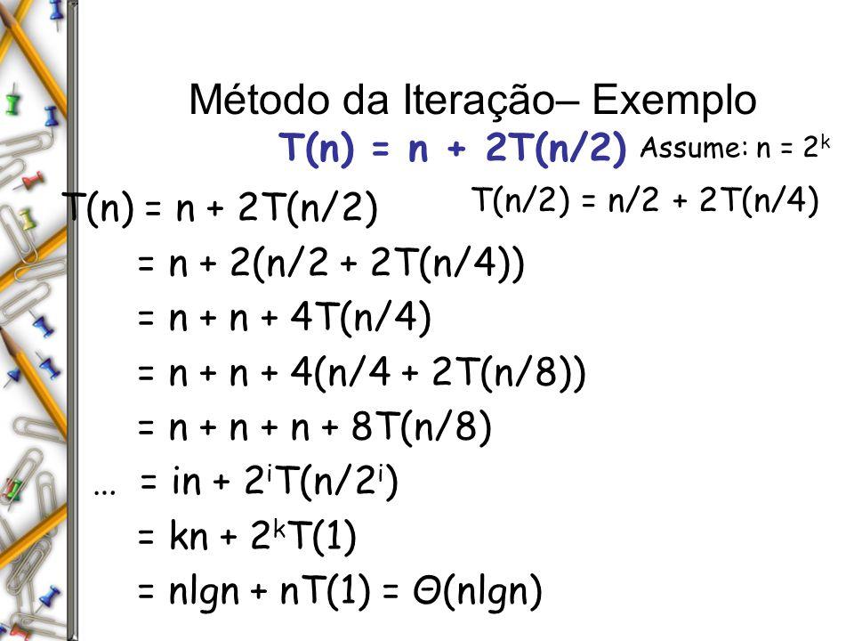 Método da Iteração– Exemplo