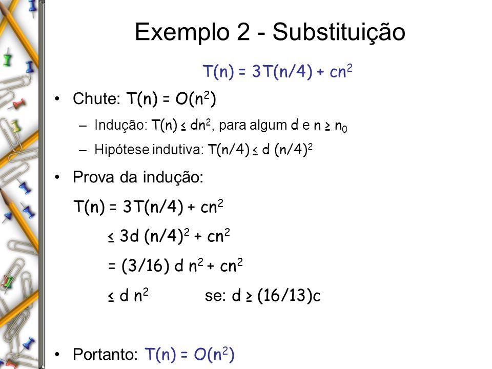 Exemplo 2 - Substituição