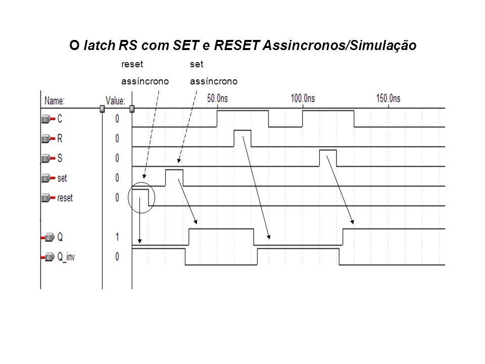 O latch RS com SET e RESET Assincronos/Simulação