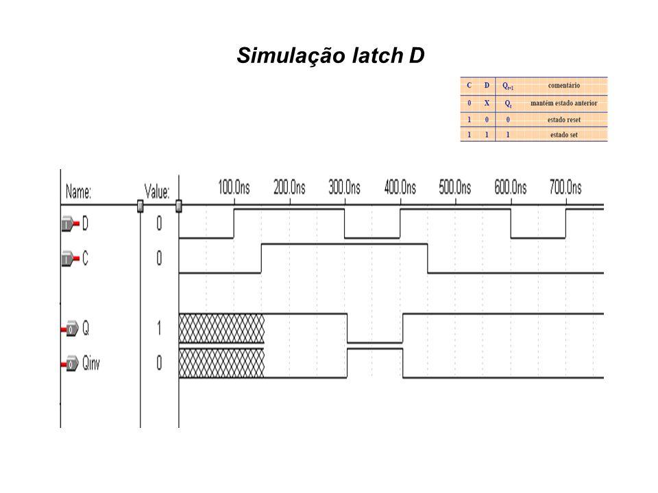 Simulação latch D