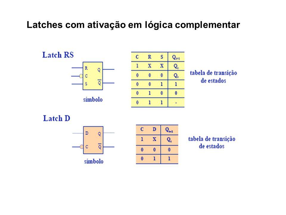 Latches com ativação em lógica complementar