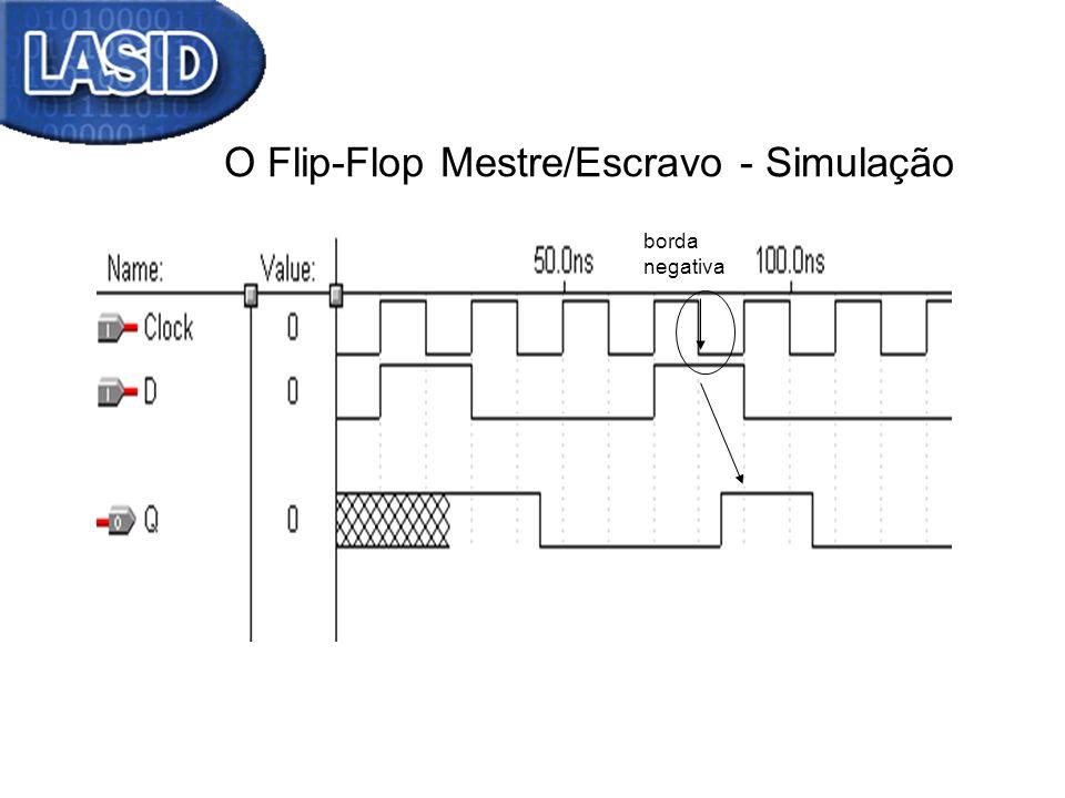 O Flip-Flop Mestre/Escravo - Simulação