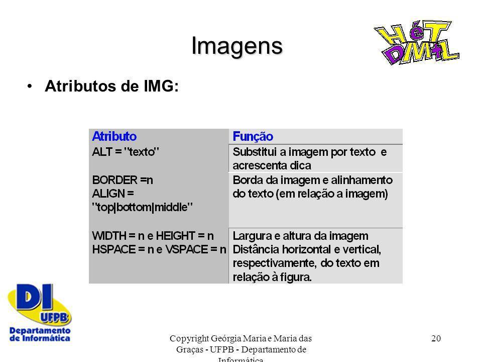 Imagens Atributos de IMG:
