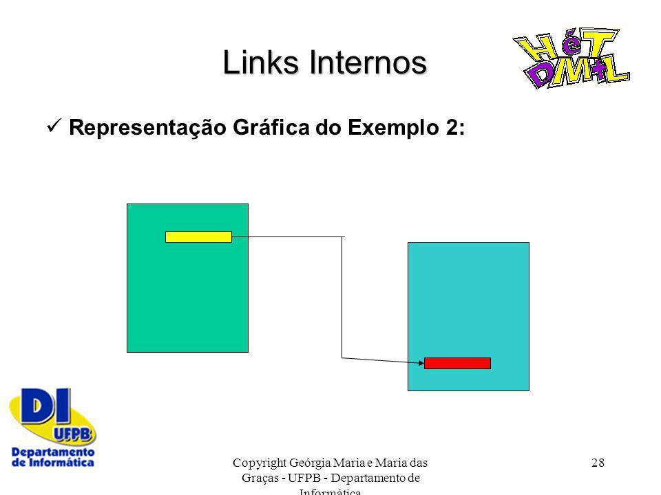 Links Internos  Representação Gráfica do Exemplo 2: