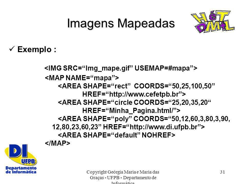 Imagens Mapeadas  Exemplo :