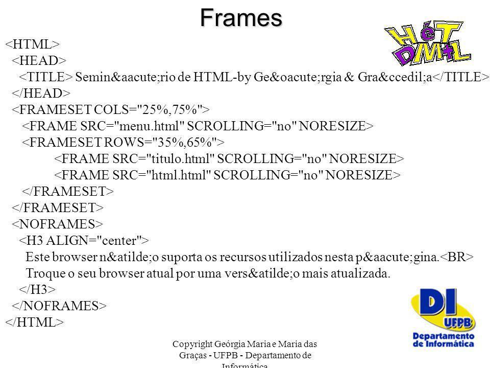 Frames <HTML> <HEAD>