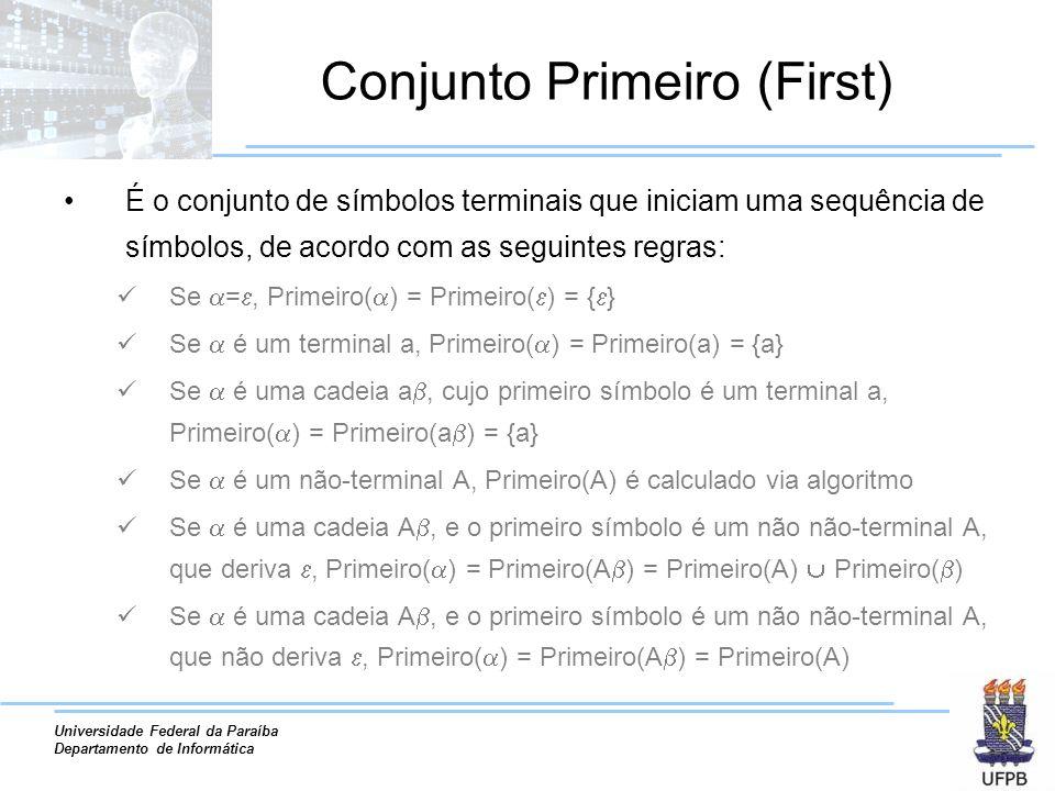 Conjunto Primeiro (First)