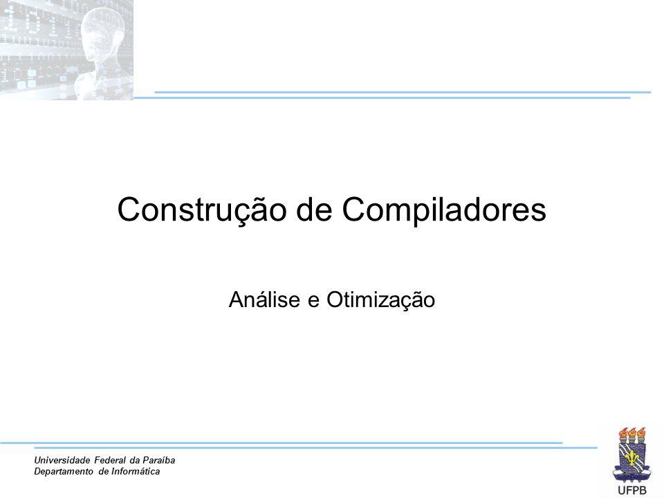 Construção de Compiladores