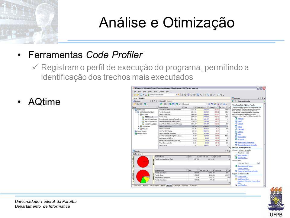 Análise e Otimização Ferramentas Code Profiler AQtime