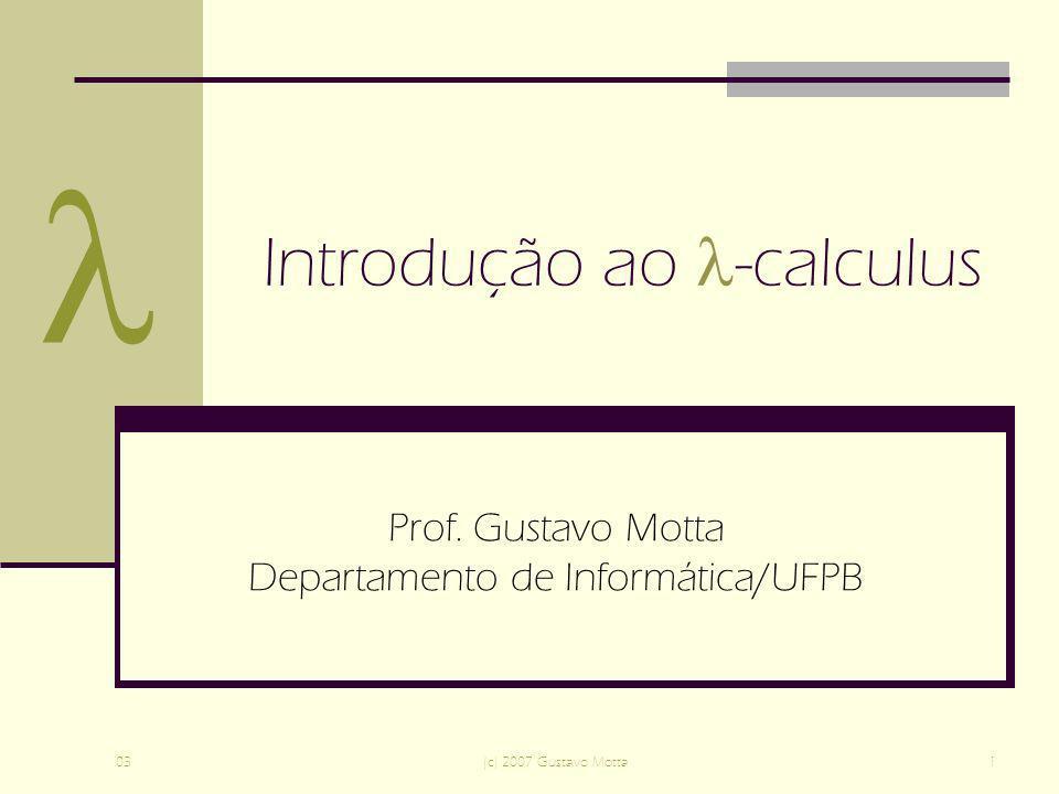 Introdução ao -calculus