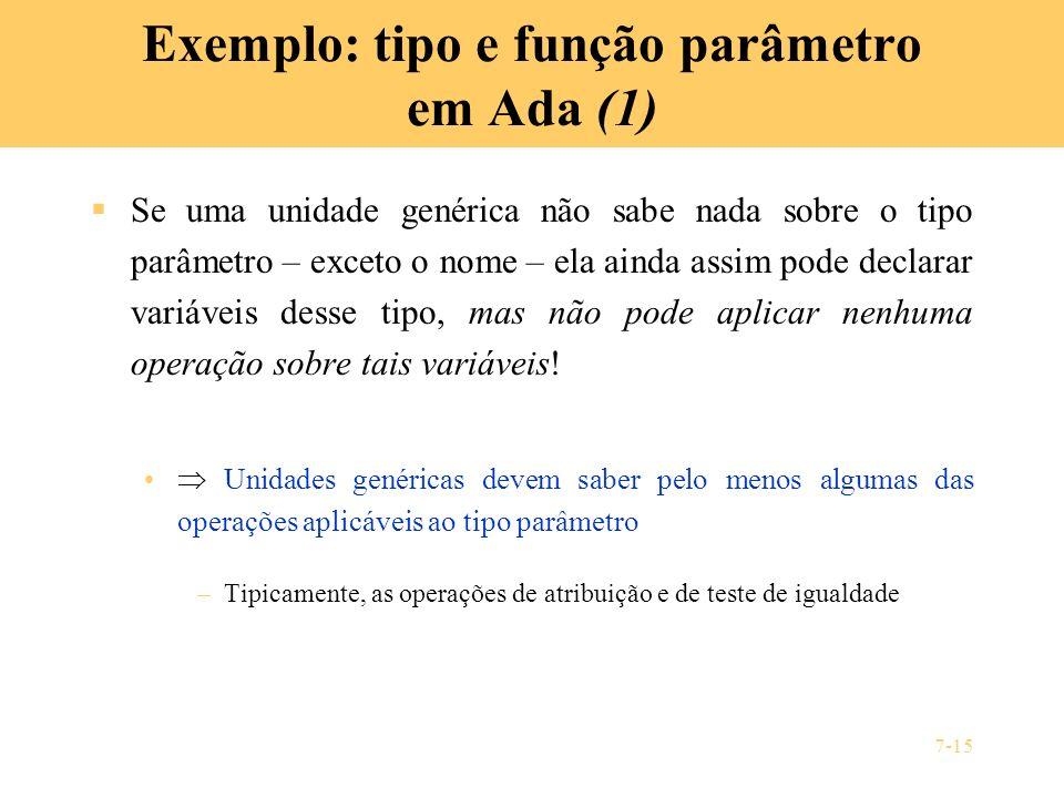 Exemplo: tipo e função parâmetro em Ada (1)