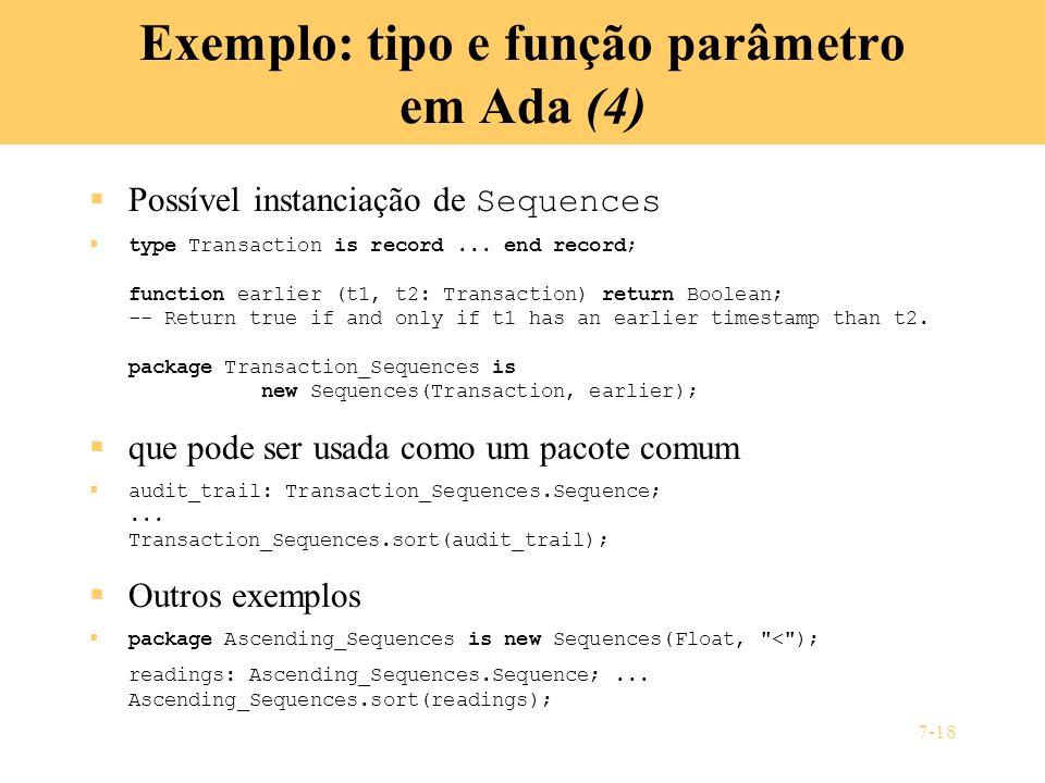 Exemplo: tipo e função parâmetro em Ada (4)
