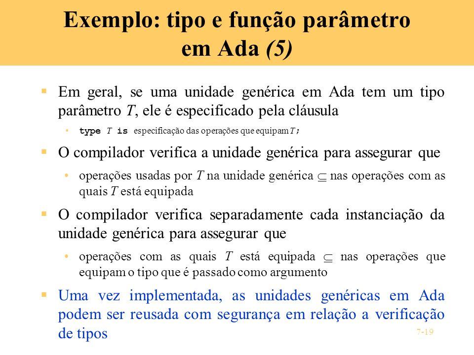 Exemplo: tipo e função parâmetro em Ada (5)