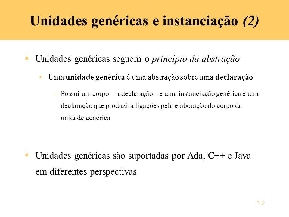 Unidades genéricas e instanciação (2)