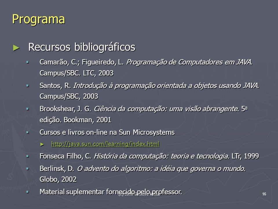 Programa Recursos bibliográficos