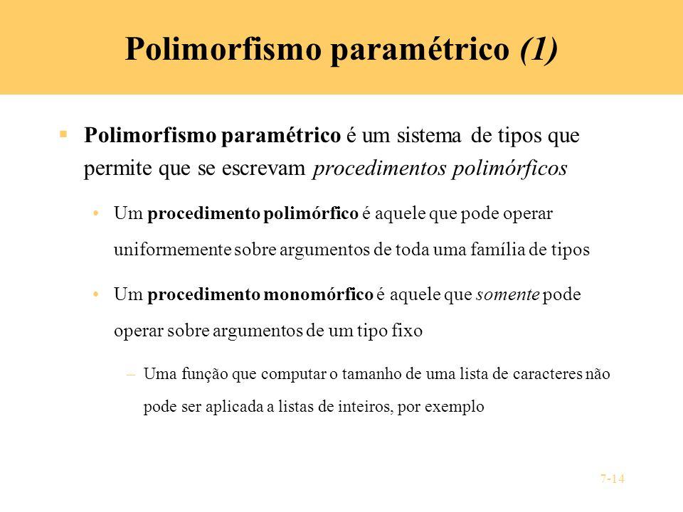 Polimorfismo paramétrico (1)