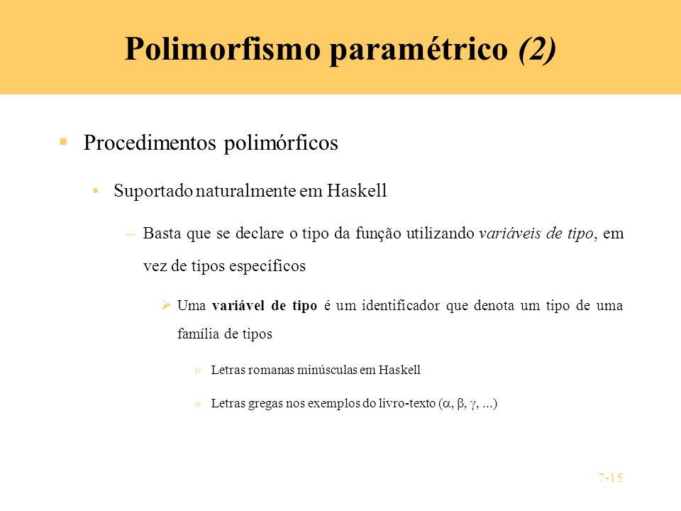 Polimorfismo paramétrico (2)