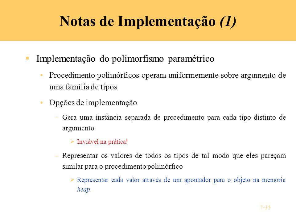 Notas de Implementação (1)