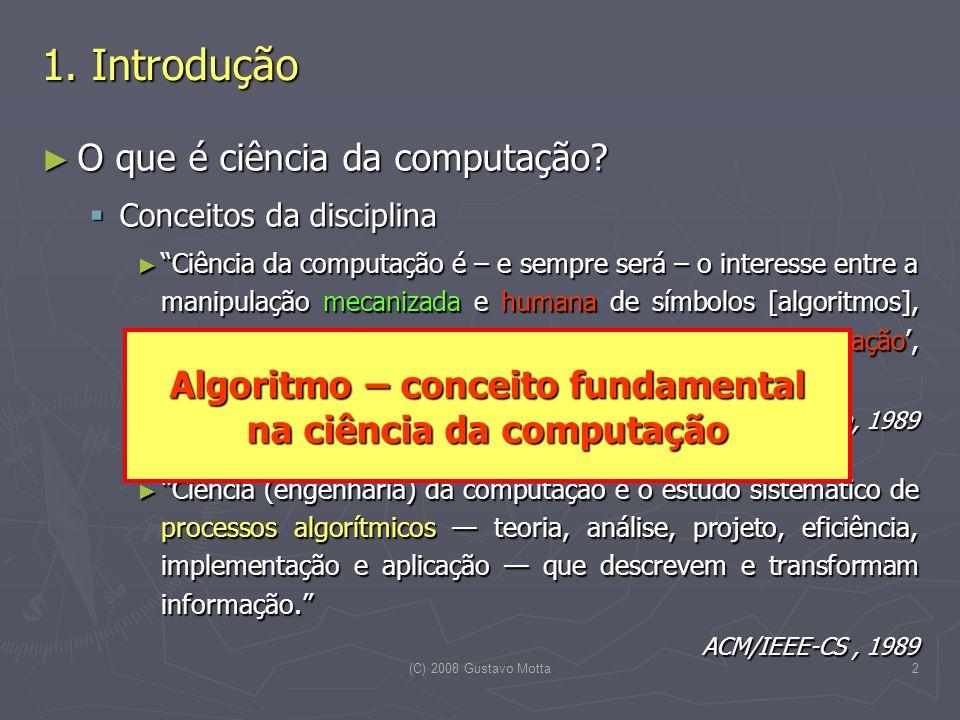 Algoritmo – conceito fundamental na ciência da computação