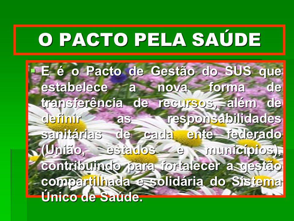 O PACTO PELA SAÚDE