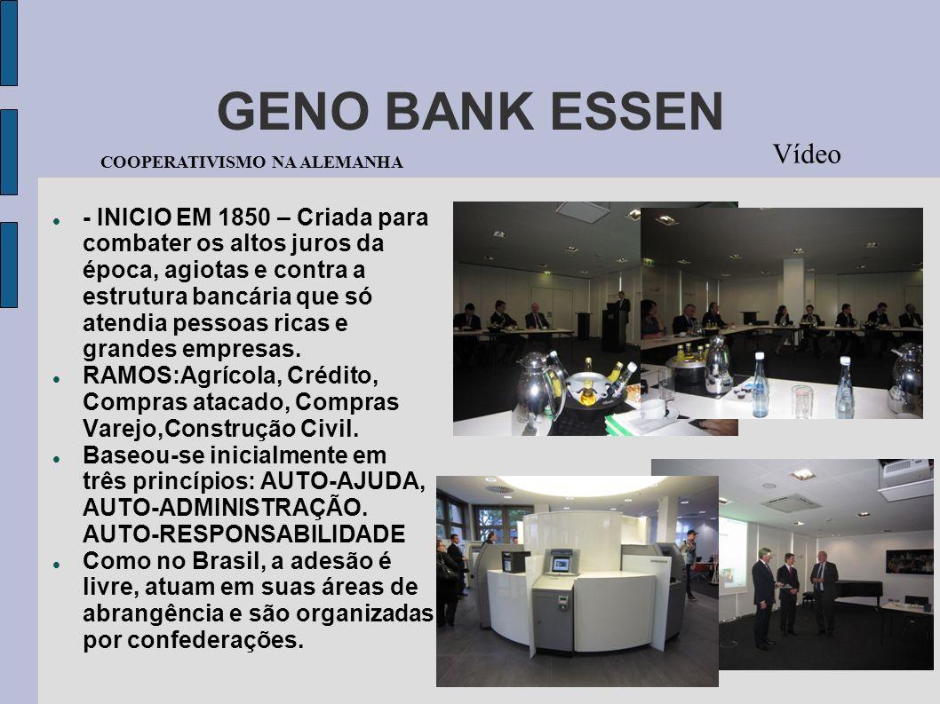 GENO BANK ESSEN Vídeo. COOPERATIVISMO NA ALEMANHA.