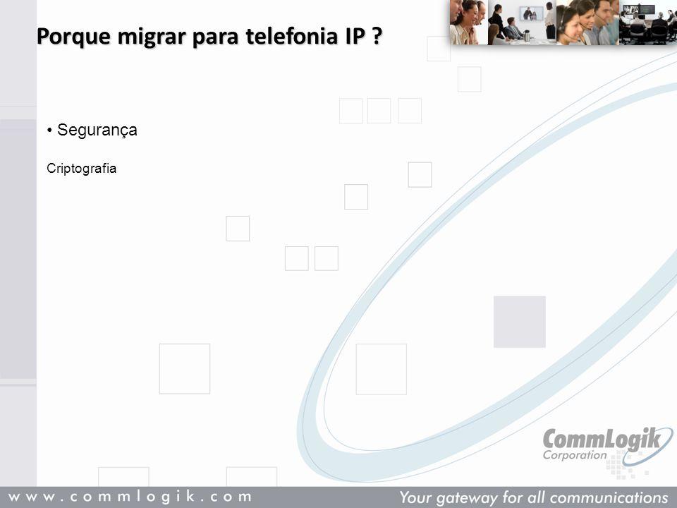 Porque migrar para telefonia IP