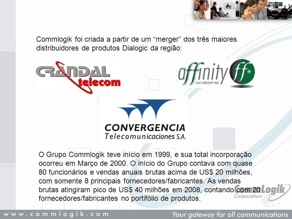 Commlogik foi criada a partir de um merger dos três maiores distribuidores de produtos Dialogic da região: