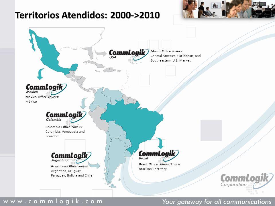 Territorios Atendidos: 2000->2010