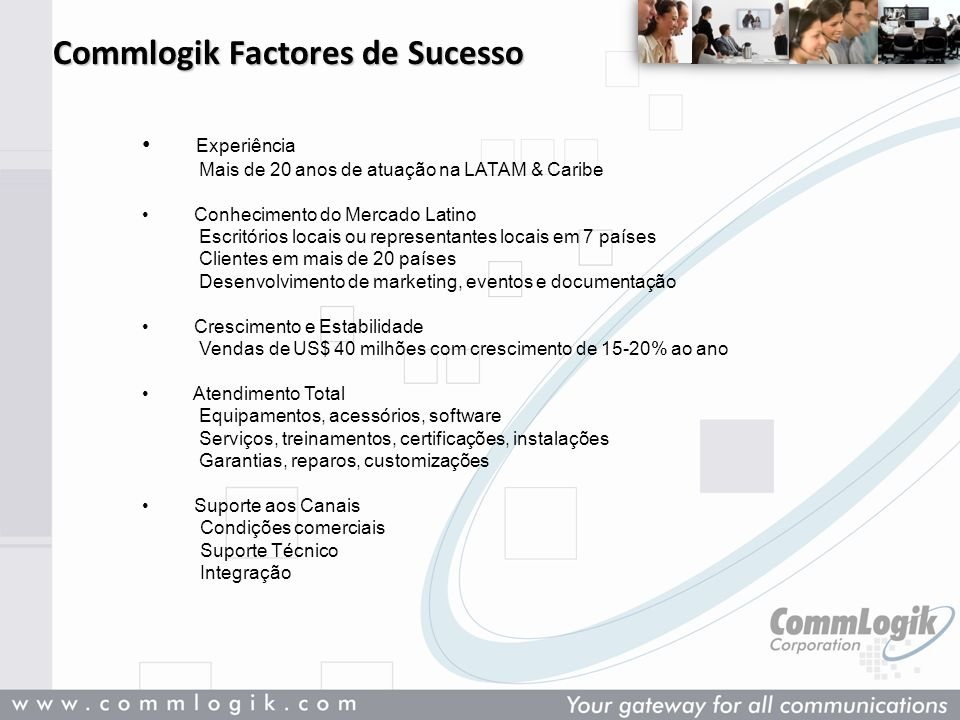 Commlogik Factores de Sucesso