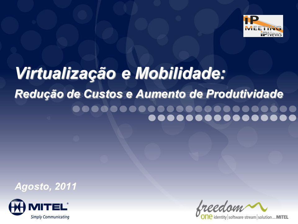 Mitel Template for 2011 3/26/2017. Virtualização e Mobilidade: Redução de Custos e Aumento de Produtividade.