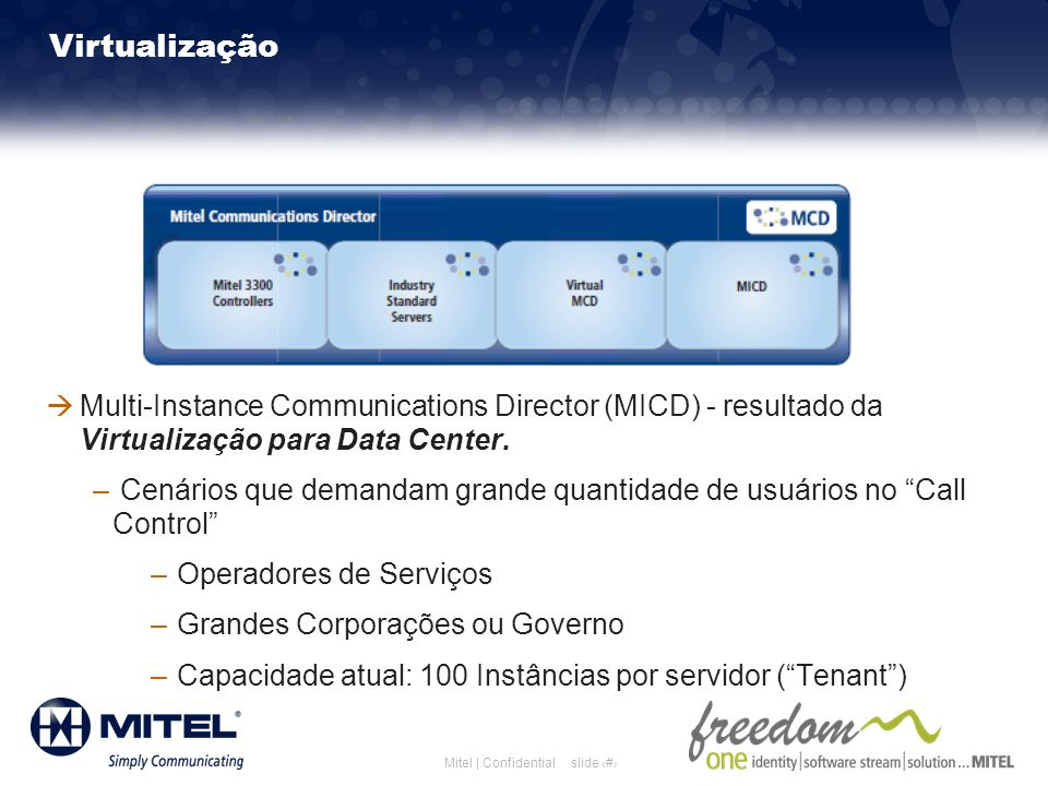 Mitel Template for 2011 Mitel Template for 2010. 3/26/2017. 3/26/2017. Virtualização.